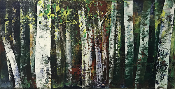 'Birkenwald II' - Acryl  - Annemarie Seidel - artelier41