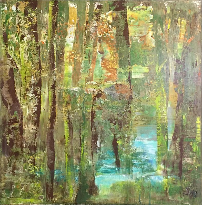 'Wald I' Acryl - Annemarie Seidel - artelier41