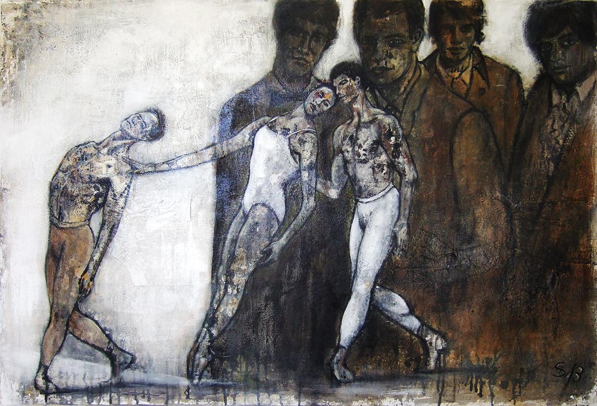 'Ballett - Allein unter Männern' - 120 x 80 - Annemarie Seidel - artelier41