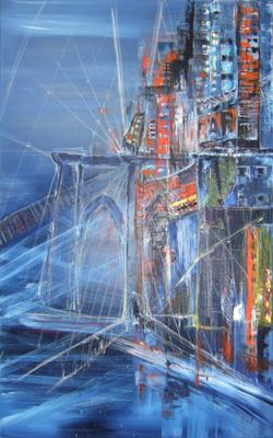 Öl auf Leinwand - 'Manhattan' - 100 x 180 cm - Annemarie Seidel - artelier41