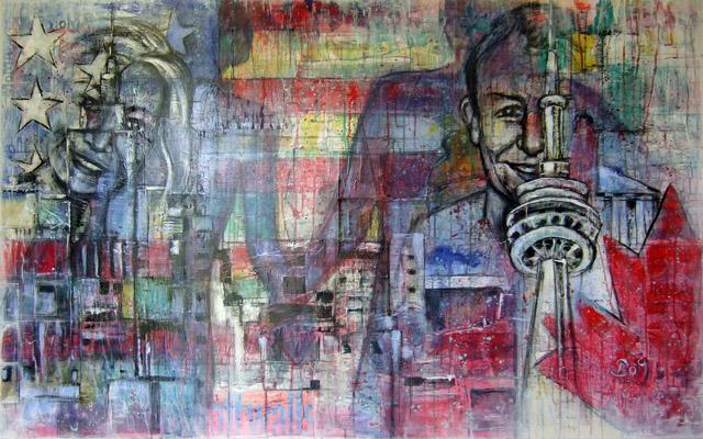 Acryl auf Leinwand - 'Erinnerungen' - 180 x 100 cm - Annemarie Seidel - artelier41