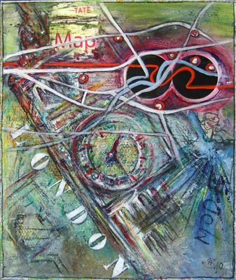 Acryl auf Leinwand - 'London' - 50 x 60 cm - Annemarie Seidel - artelier41