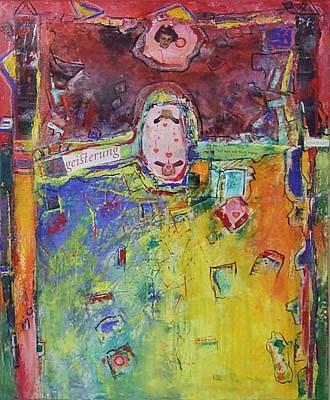 Acryl auf Leinwand - 'Begeisterung' - 80 x 100 cm - Annemarie Seidel - artelier41