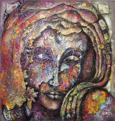 Öl auf Leinwand - 'Melancholie' - 60 x 60 cm - Annemarie Seidel - artelier41