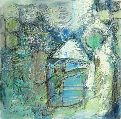'Haus im Grünen' - Acryl auf Leinwand - 60 x 60 cm - Annemarie Seidel - artelier41
