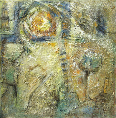 'Spring Sun' - Acryl auf Leinwand - 60 x 60 cm - Annemarie Seidel - artelier41