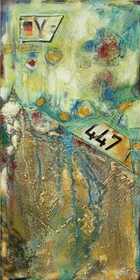 'Rolling Stones' - Acryl auf Leinwand - 60 x 120 cm - Annemarie Seidel - artelier41