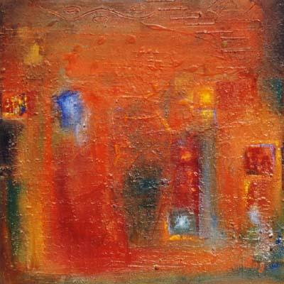 Öl auf Leinwand - 60 x 60 cm - 'Versteckte Sehnsüchte' - Annemarie Seidel - artelier41