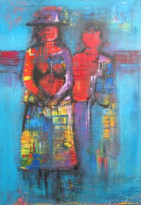 Acryl auf Leinwand - 'Mexiko' - 60 x 100 cm - Annemarie Seidel - artelier41