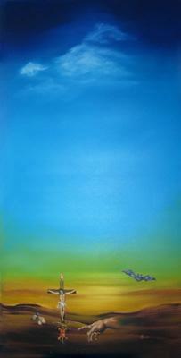 Öl auf Leinwand - 'Traumbild' - 80 x 150 cm - Annemarie Seidel - artelier41