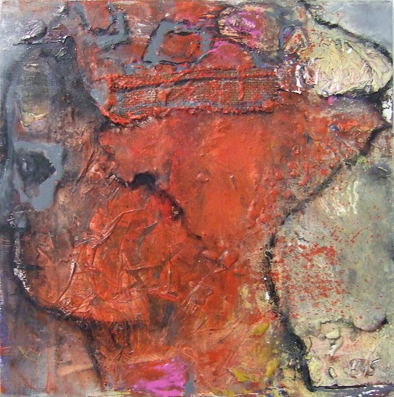 'Die im Wind steht' Acryl / Mischtechnik auf Leinwand - 60 x 60 - Annemarie Seidel - artelier41