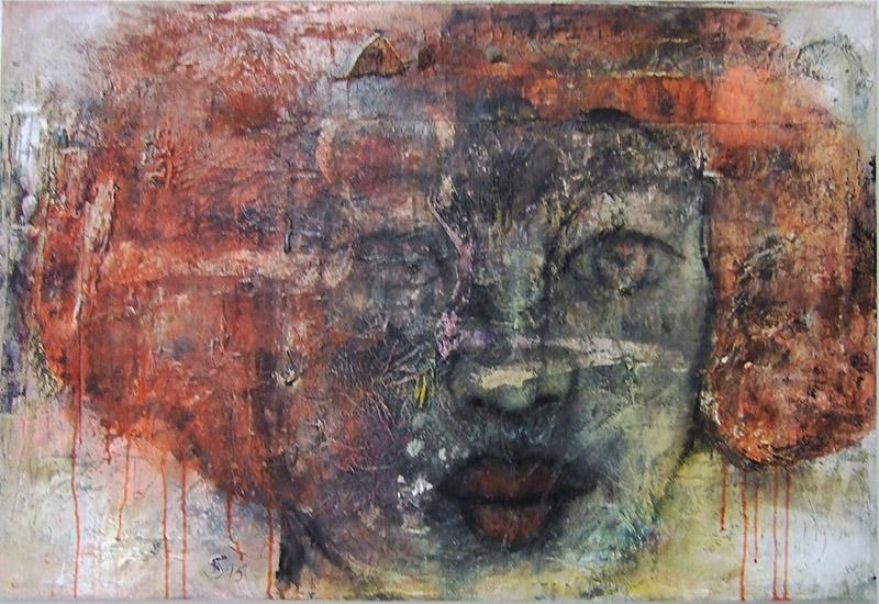 'Traumversunken' Acryl / Mischtechnik auf Leinwand - 120 x 80 - Annemarie Seidel - artelier41