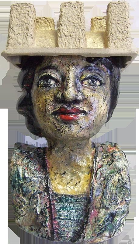 'Madame' - Paper - Acryl - Annemarie Seidel - artelier41