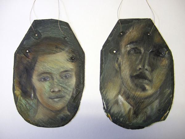 Öl auf Schiefer - 18 x 30 cm - Annemarie Seidel - artelier41