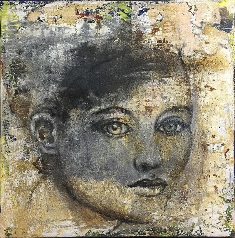 'Beobachtung I' - Acryl - 60 x 60 cm - Annemarie Seidel - artelier41