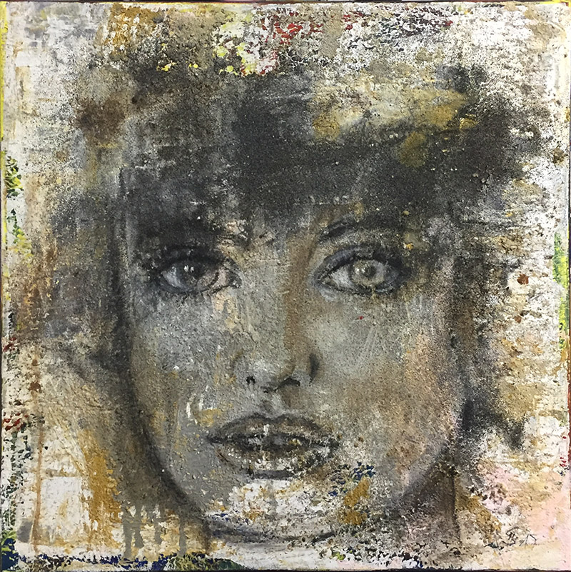 'Beobachtung II' - Acryl - 60 x 60 cm - Annemarie Seidel - artelier41