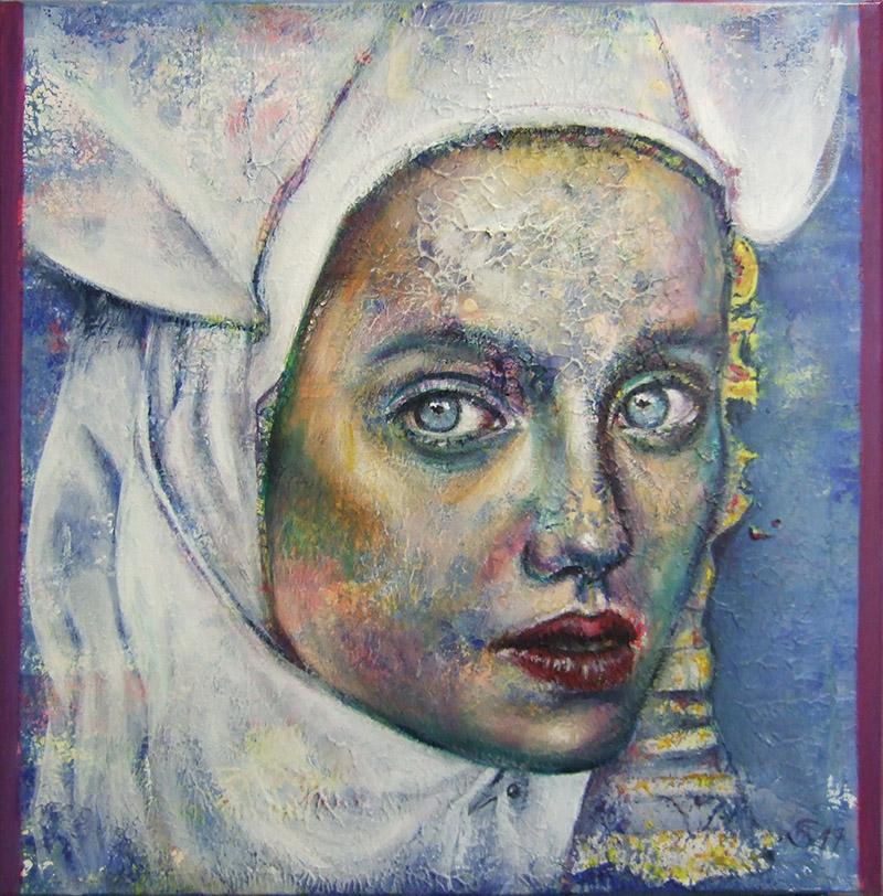 'Die Gedanken sind frei I' - Acryl - 60 x 60 cm- Annemarie Seidel - artelier41