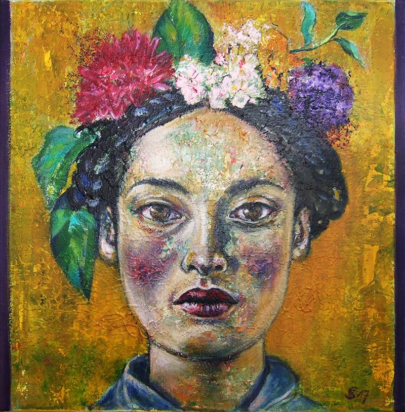'Die Gedanken sind frei II' - Acryl - 60 x 60 cm - Annemarie Seidel - artelier41