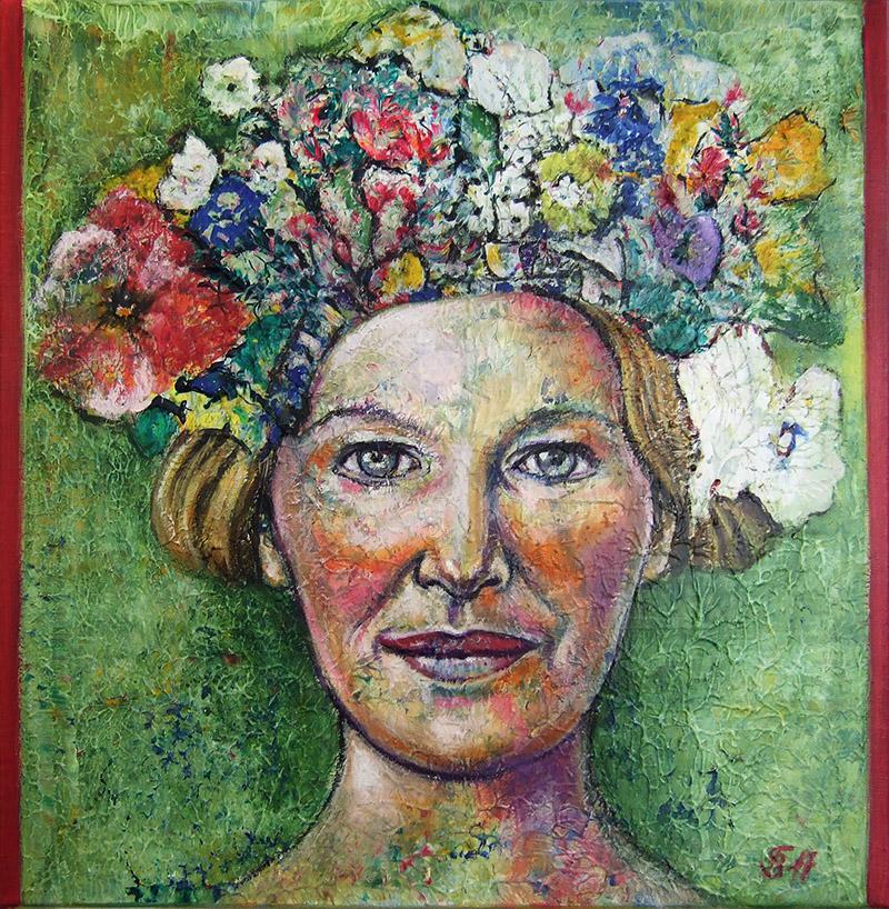 'Die Gedanken sind frei III' - Acryl - 60 x 60 cm - Annemarie Seidel - artelier41