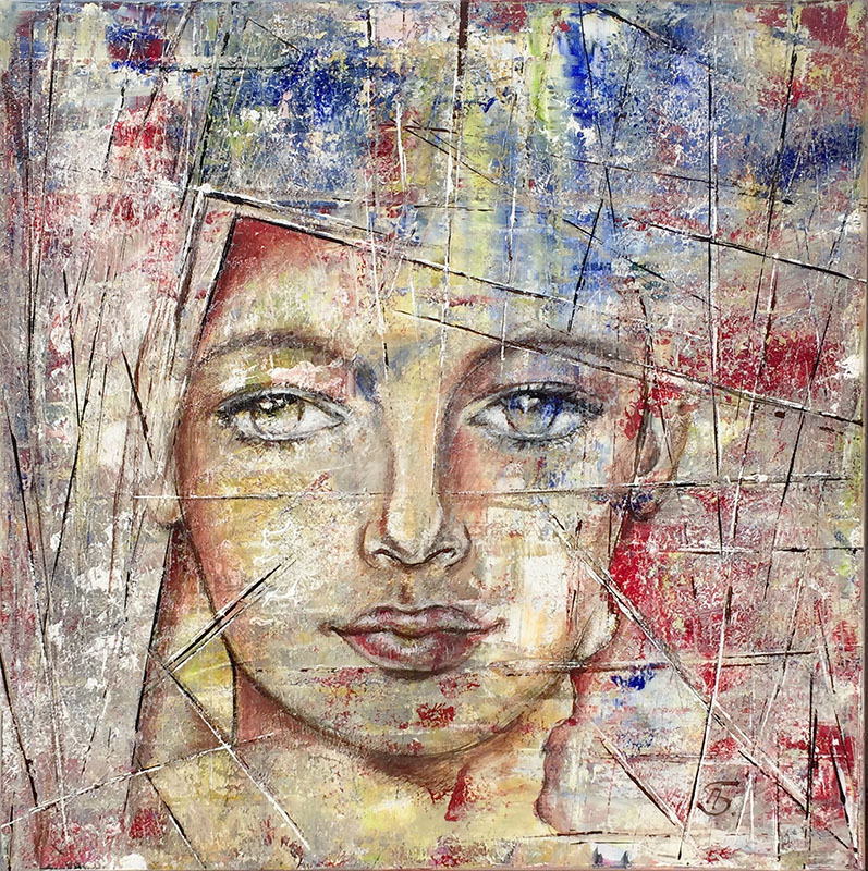 'Gesisteblitze' - Acryl - 80 x 80 cm - Annemarie Seidel - artelier41