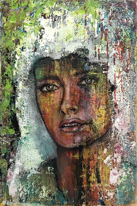 'Ich warte' - Acryl - 40 x 60 cm - Annemarie Seidel - artelier41