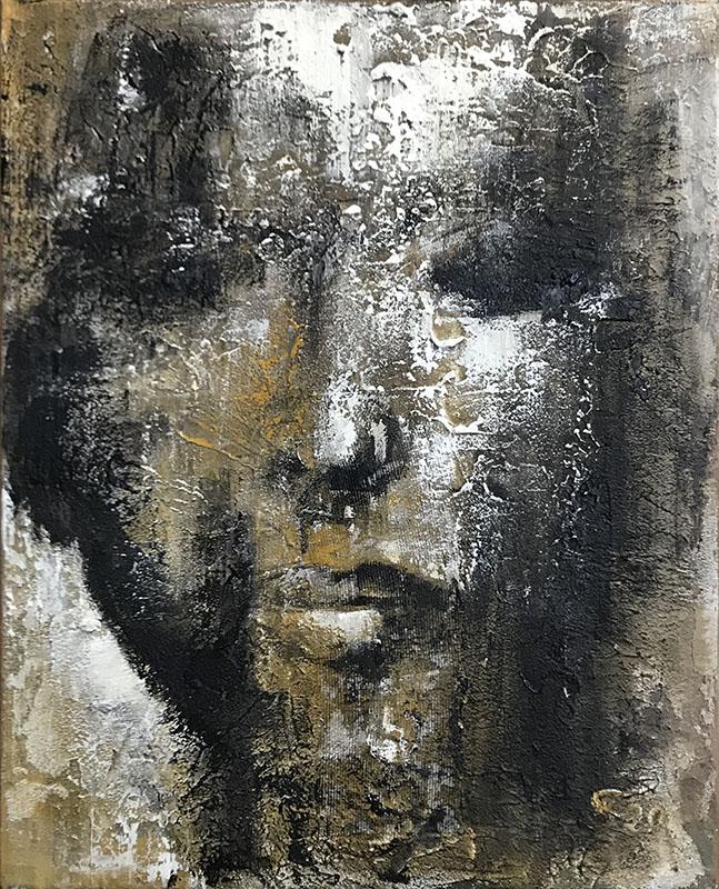 'Krise-I' Acryl - 40 x 50 cm - Annemarie Seidel - artelier41