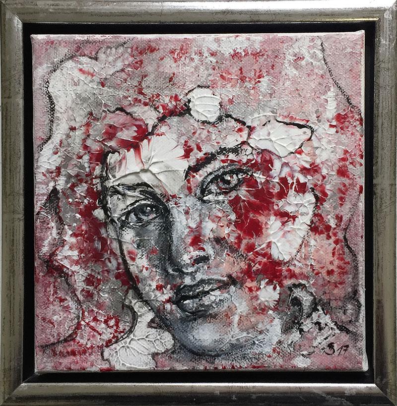 'Ma(h)lzeit II' - Acryl - 20 x 20 cm - Annemarie Seidel - artelier41