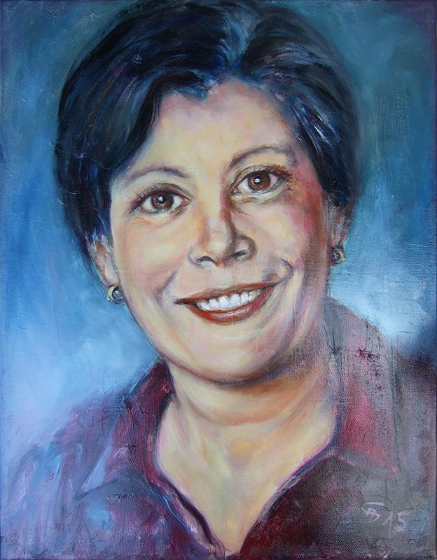 'Schwester' - Öl - 36 x 47 cm - Annemarie Seidel - artelier41