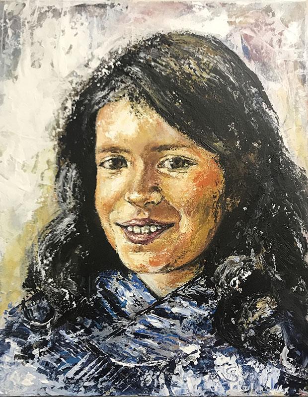'Mila' Acryl - 50 x 60 cm - Annemarie Seidel