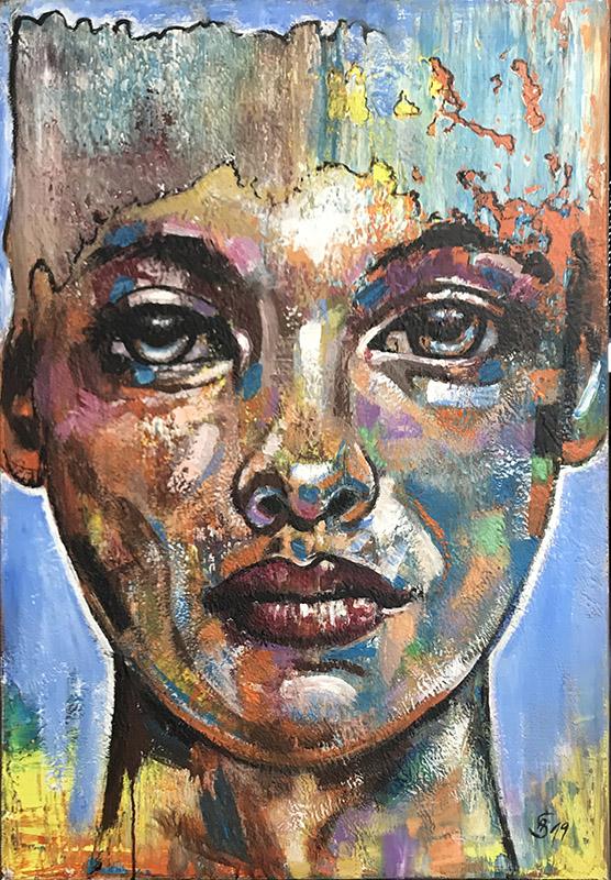 'Phönixe' Acryl - 80 x 100 cm - Annemarie Seidel - artelier41