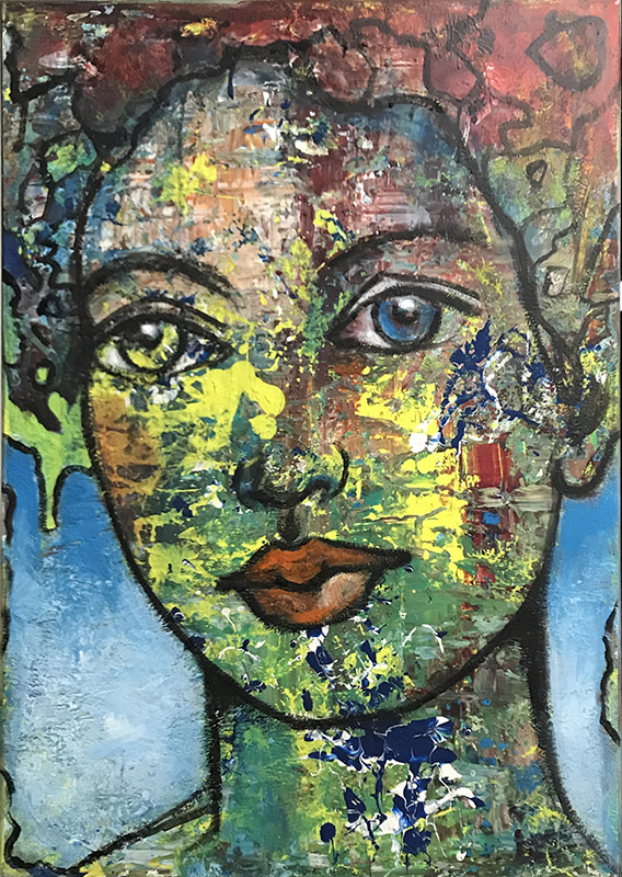 'Sehnsucht' Acryl - 80 x 100 cm - Annemarie Seidel - artelier41