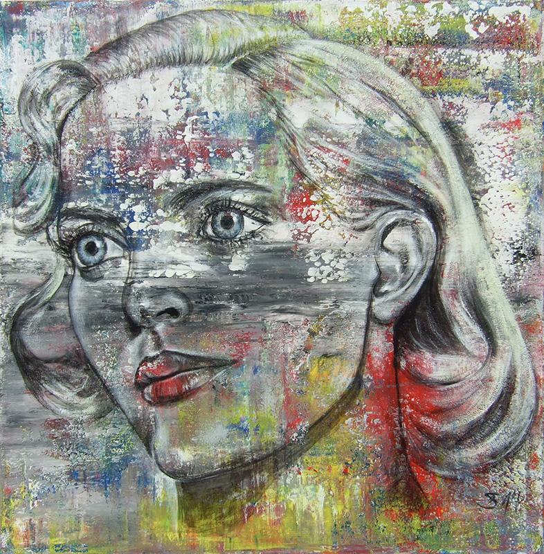 'Sinnlichkeit' - Acryl 120 x 120 cm - Annemarie Seidel - artelier41