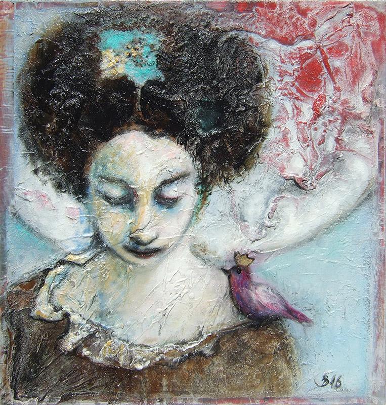 'Zuspruch' - Acryl - 50 x 50 cm - Annemarie Seidel - artelier41