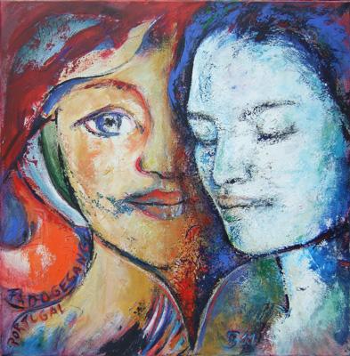 Acryl - 'Fado' - 100 x 100 cm - Annemarie Seidel - artelier41