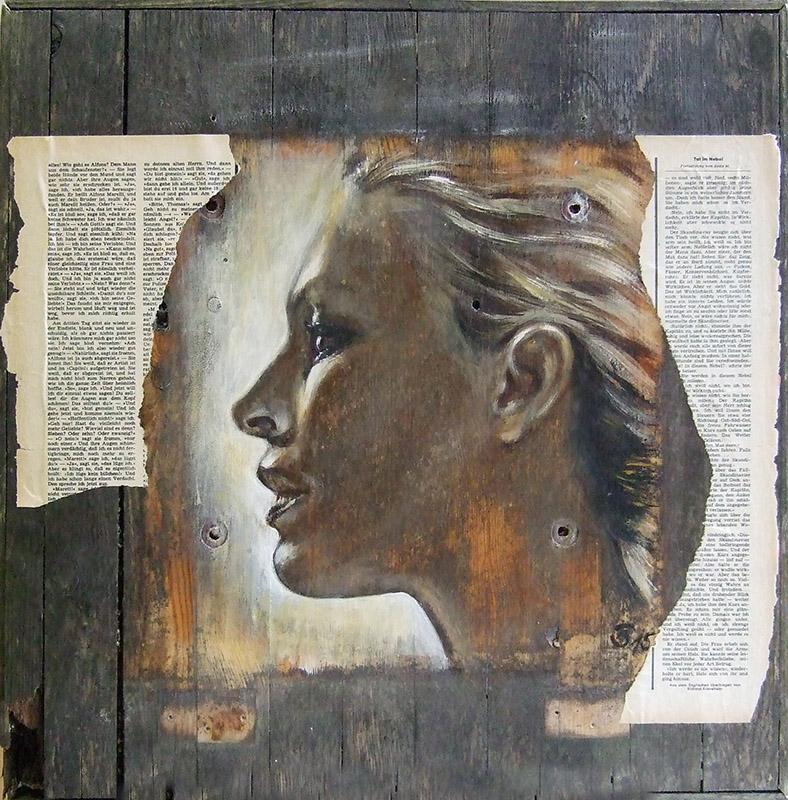 "'Ich"" - Acryl Holz - 50 x 50 cm - Annemarie Seidel - artelier41"