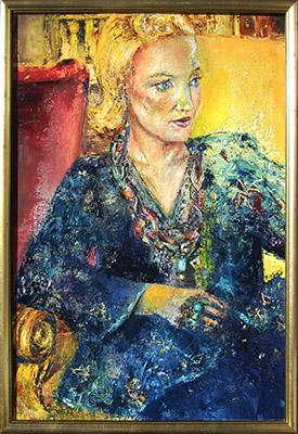 'Erwartung' - Öl - 50 x 70 cm - Annemarie Seidel - artelier41