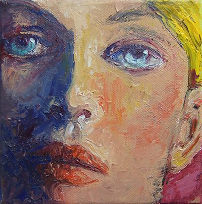 'Carla' - Acryl auf Leinwand - 15 x 15 cm - Annemarie Seidel - artelier41
