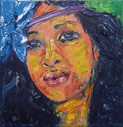 'Karibik' - Acryl auf Leinwand - 20 x 20 cm - Annemarie Seidel - artelier41