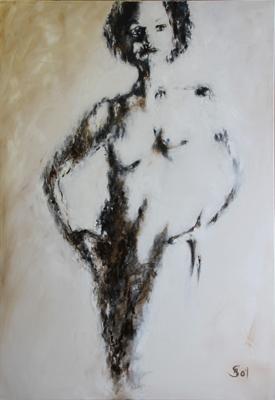 Akt - Ol auf Leinwand - 80 x 120 cm - Annemarie Seidel - artelier41