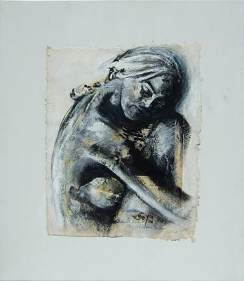 'Anna I' Acryl - Papier - Leinwand - 40 x 50 cm - Annemarie Seidel - artelier41