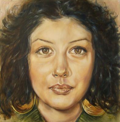 'Natja' - Öl auf Leinwand - 80 x 80 cm - Annemarie Seidel - artelier41