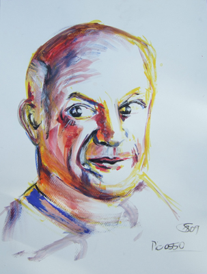 'Pablo Picasso' - Acryl auf Papier - 40 x 50 cm