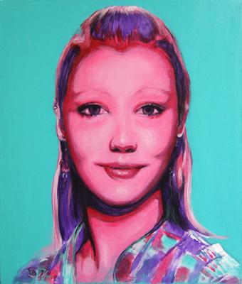 'Saskia' - Acryl auf Leinwand - 50 x 60 cm