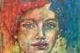 'Rot trifft Blau' - Acryl - 80 x 80 cm - Annemarie Seidel - artelier41