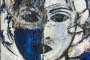 'Blue Lady' - Acryl - 60 x 80 cm - Annemarie Seidel
