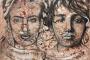 'Frida Kahlo - Camille Claudel - Leid & Leidenschaft' - Acryl - 100 x 80 cm - Annemarie Seidel - artelier41