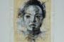 'Nora' - Acryl - Papier - Papyrus - Leinwand - 50 x 60 cm - Annemarie Seidel - artelier41