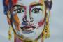 'Frida Kahlo' - Acryl auf Papier - 40 x 50 cm