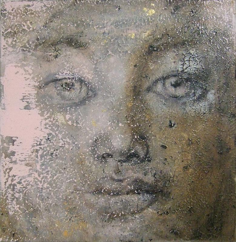 'Unschuld' Acryl / Mischtechnik auf Leinwand - 60 x 60 - Annemarie Seidel - artelier41
